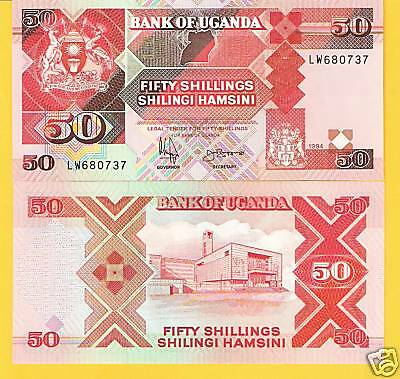 UGANDA 50 Shillings Banknote World Money Currency Africa Bill p30c - 1997 Note