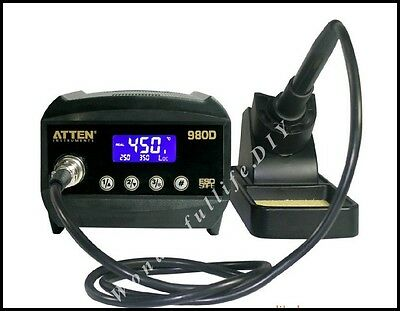 New ATTEN AT980D LCD Digital dispaly ESD safe 80W Soldering Iron Station
