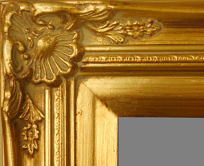 "PICTURE FRAME WOOD ORNATE GOLD WEDDING PHOTO ART 2.75"" WIDE VARIETY OF SIZES!"