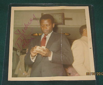 """SIDNEY POITIER Signed Autographed 4 x 4 Photo, """"RARE"""""""