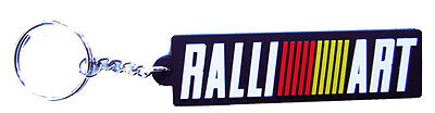 New rubber Mitsubishi Ralli Art, Ralliart racing keychain/keyring. (kr117)