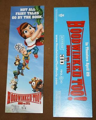 HOODWINKED TOO (2) HOOD VS. EVIL Original Movie Promo BOOKMARK D/S MINT RARE NEW