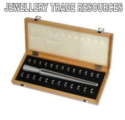 JEWELLERS UK RING FINGER SIZE GAUGE BOX SET SIZER JEWELLERY MAKING 7mm + STICK