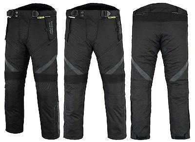 All Weather CE Armoured Motorcycle Bike Waterproof Thermal Vented Trousers Pants
