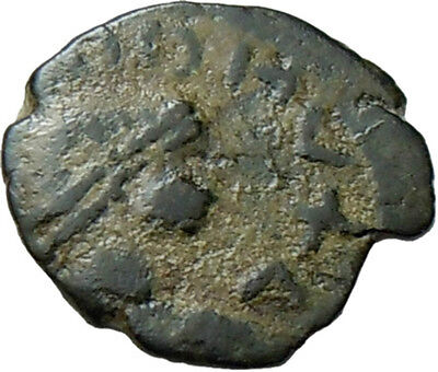 Barbarian Imitation of Late Roman AE 10 mm. Authentic Ancient Bronze Coin
