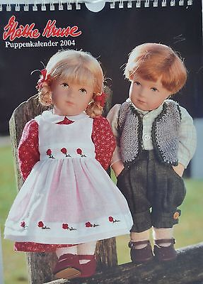 KATIE KRUSE DOLL CALENDAR FROM 2004 PUPPENKALENDE-USED-PICTURES UNMARKED-GERMANY