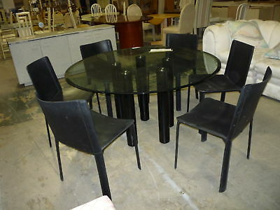 70'S / 80'S Chic Italian Architectural Cidue Dining  Table Only
