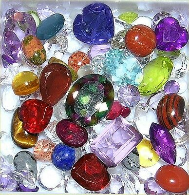 Wholesale Lot of 25 carats natural faceted and Cabochon Gemstones Birth stones