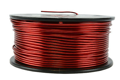 TEMCo Magnet Wire 14 AWG Gauge Enameled Copper 1.5lb 155C 118ft Coil Winding