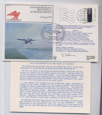 1979 40th Anniv First Flight by a Jet Propelled Aircraft Flight Cover