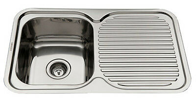 Stainless Steel Kitchen Sink Single Bowl with Drainer