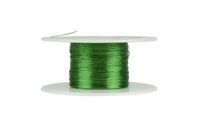 Magnet Wire 30 AWG Gauge Enameled Copper155C 2oz 391ft Crafts Coil Green