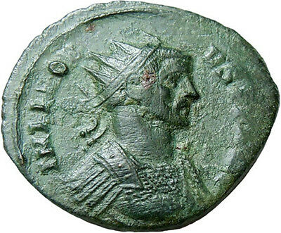 Probus AE Antoninianus Jupiter Thunderbolt Authentic Ancient Roman Bronze Coin