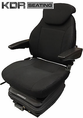 Deluxe Tractor Suspension Seat Fabric With Armrests -Grammer And Kab Replacement