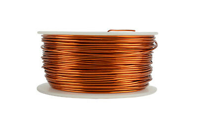 TEMCo Magnet Wire 18 AWG Gauge Enameled Copper 200C 1lb 199ft Coil Winding