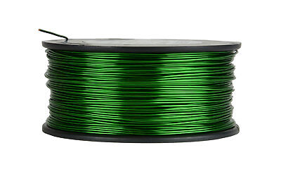 TEMCo Magnet Wire 18 AWG Gauge Enameled Copper 155C 1.5lb 298ft Coil Green