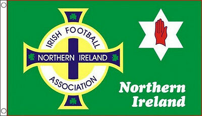 5' x 3' Northern Ireland Football Flag Irish Red Hand of Ulster Flags Banner