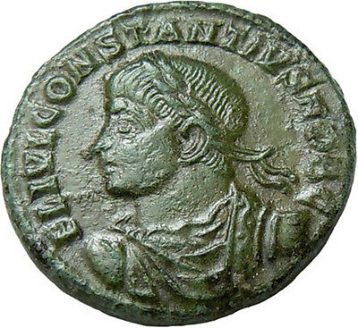 Constantius II AE Camp-gate Ancient Roman Bronze Coin Rare
