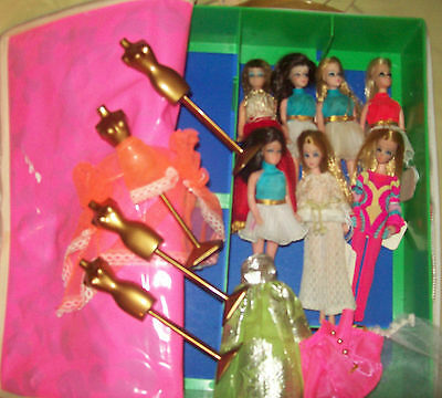 Lot Of 7 Vintage Dawn & Angie Dolls