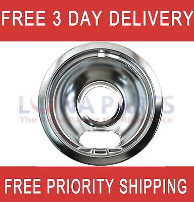 Stove 6 Inch Chrome Drip Pan Bowl W10196406Rw Ap4450304 Ps2366565 Wpw10196406