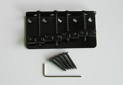 Black 4 String Vintage Electric Bass Bridge for P Bass J Bass