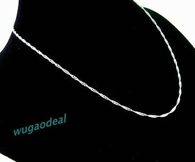 Wholesale Lot 48 Pcs 1.5MM Silver Plated Copper Wave Thin Chain  Necklace