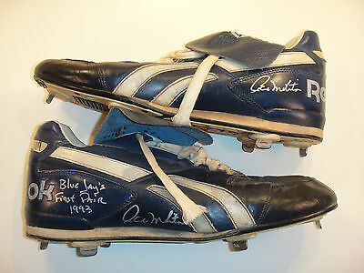 """Paul Molitor """"blue Jays First Pair 1993"""" Game Used Dual Signed Spikes, Psa/dna"""