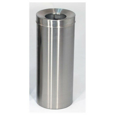 Tidy Bin Brushed Silver Stainless Steel Kitchen Litter Rubbish Garbage Waste Can