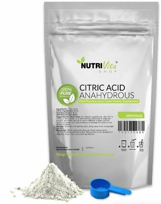 25 lbs 100% PURE CITRIC ACID ANHYDROUS -KOSHER/PHARMACEUTICAL USP32 GRADE-