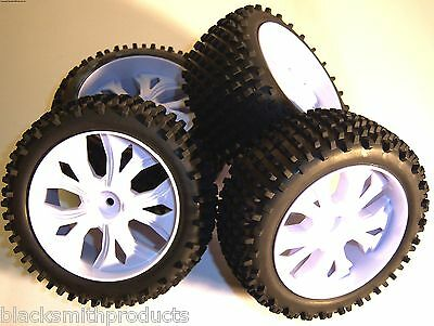 BS937-009/10 1/10 Scale RC Buggy Off Road Wheels and Tyres x 4 White