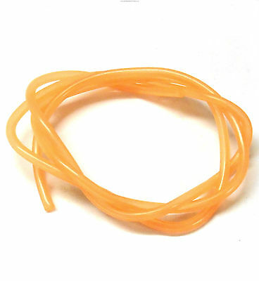 Orange Silicone RC Nitro Glow Fuel Line Tube Pipe 1 Meter R/C