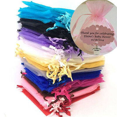 Luxury Organza Sheer Gift Candy Bags Jewelry Pouches Wedding Party Favor Decor