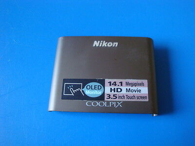 NIKON COOLPIX S80 SILVER FRONT CASE COVER FOR REPLACEMENT REPAIR PART