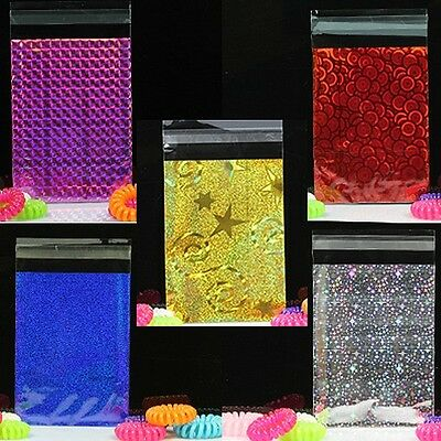 100x, 3''x4'' Glitter Metallic Lip&Tape Cello Cellophane Party Favors Gift Bags