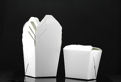 10x, 16oz Chinese Take Out / To Go Boxes, Microwavable, Party Gift Boxes, White