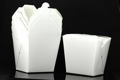 10x, 32oz Chinese Take Out / To Go Boxes, Microwavable, Gift Boxes, White