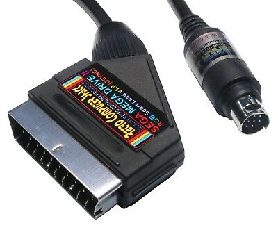 Sega Mega Drive 2 II High Quality GOLD PLATED RGB Scart TV Lead Video Cable.