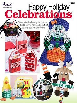 Plastic Canvas Pattern Book Holiday Celebrations Easter Christmas Thanksgiving +
