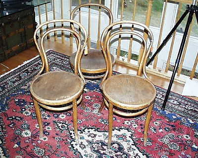 Original Kohn Austria/Vienna Art Deco Modernist Bentwood Chairs 1800S Early 20Th