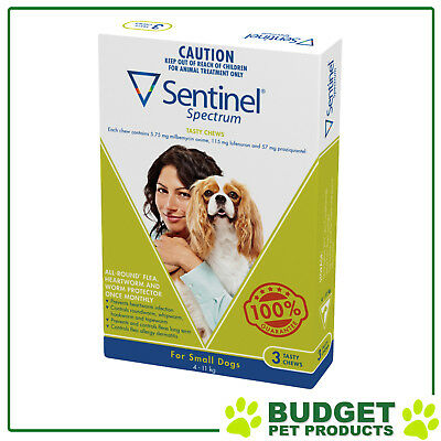 Sentinel Spectrum For Dogs 4-11kg Green 3 pack
