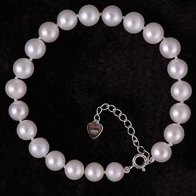 Real Freshwater Pearl Bracelet - Silver Clasp, ( Several lengths available ) AA