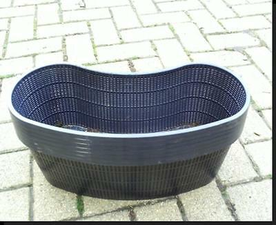 2 Large new kidney shaped plastic aquatic pond pots baskets for water plants