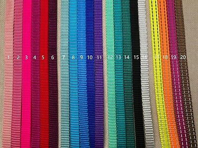 3/8'' (10mm) -5 Yards Heavy weight Nylon Webbing- multi color choices