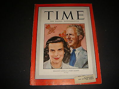 Time Magazine , July 18, 1949, Belgiums Leopold and Mary Front Cover, Great Ads