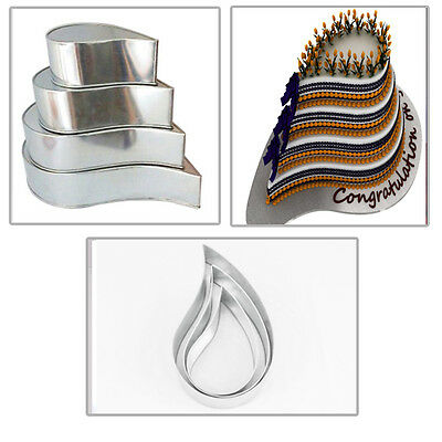 4 Tier Tear Drop Multilayer Wedding Cake Tins