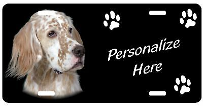 English Setter, #1  Personalized pet  license plate
