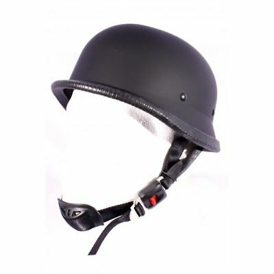 Classic German Motorcycle Motorbike Cruiser Bike Open Face Scooter Helmet Matt