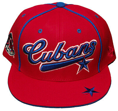 New! New York Cubans - Dual Fit - Fitted Hat - 3D Embroidered Cap - Negro League