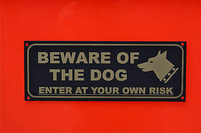 Beware Of The Dog Enter At Your Own Risk House Garden Security Pet Sign/Sticker