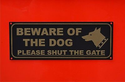Beware Of The Dog Please Shut The Gate House Garden Security Pet Sign/Sticker